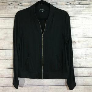 Black Torrid Bomber Zipper Style Jacket Size M